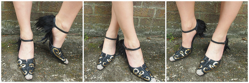 DIY 1920s Inspired Embellished Shoes 2