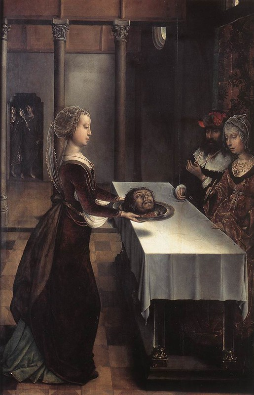 """Salome with the head of John the Baptist"" by Juan de Flandes"
