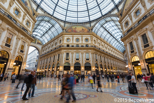 "Galleria vittorio emanuele from the book ""La vita operosa - Avventure del '19 a Milano"" by Massimo Bontempelli"