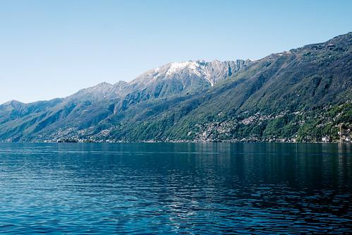 Il Lago Maggiore, visto da Ascona, aprile 2015