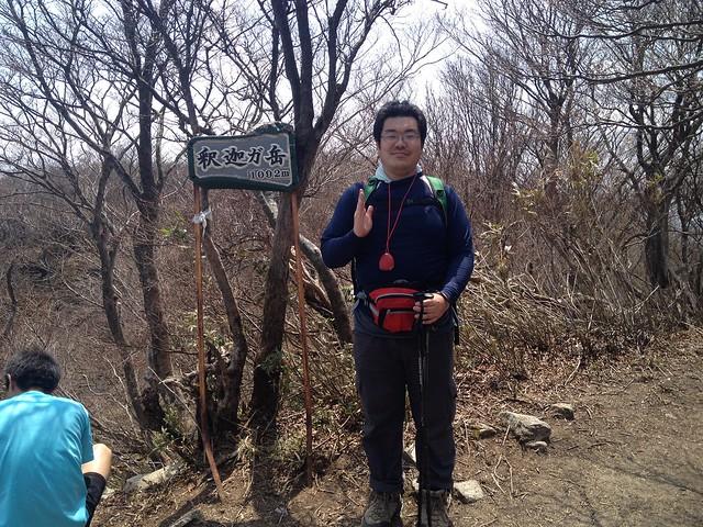 釈迦ヶ岳 山頂 たっくん