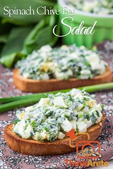 Spinach Chive Egg Salad