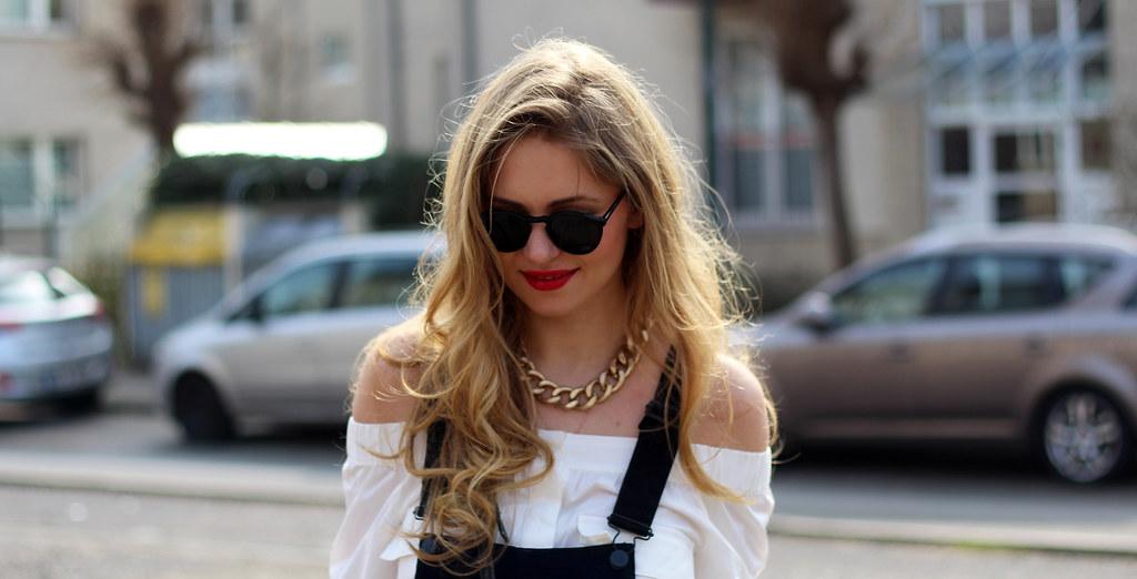 dungarees latzhose H&M schwarz zara heels
