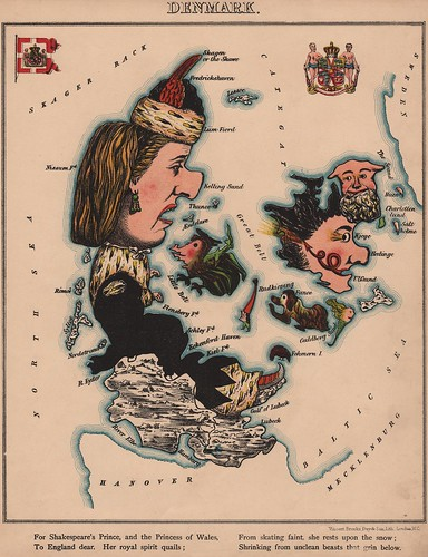 Caricature map of Denmark by Aleph