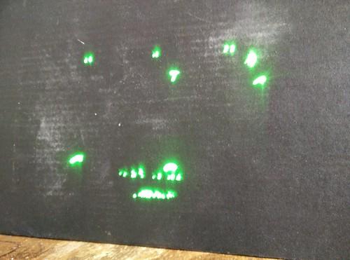 Asteroids laser display