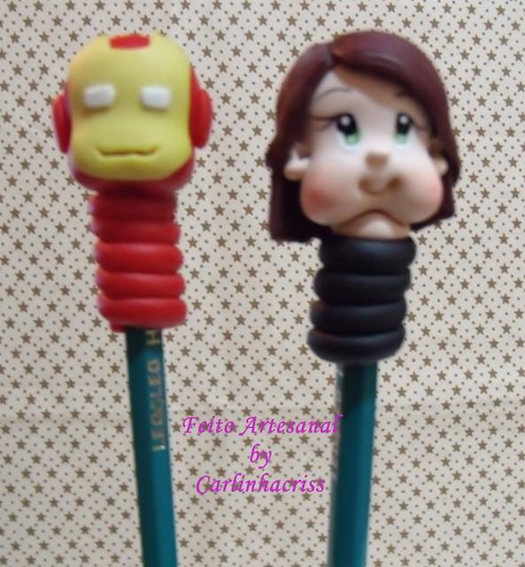 Ponteiras de lápis personagens