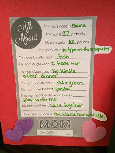Mom Day at PreK 2016