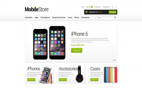 Mobile Phones OpenCart 2.0.1.0 Template