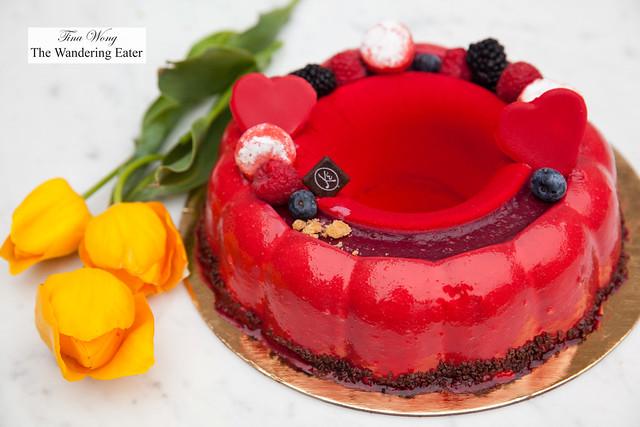 Charlotte aux fruits rouges (large cake size)