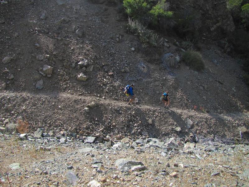Heading down to Horseshoe Mine