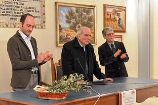Noicattaro. Inaugurazione mostra Michele Laudadio front