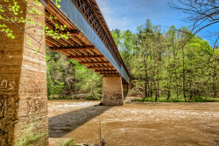 Swann Covered Bridge from underneath