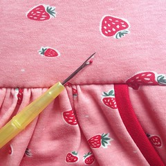 Sure... pineapples are more fashionable and there is nothing wild about strawberries but at least I'm carving out some sewing time for #kidsclothesweek