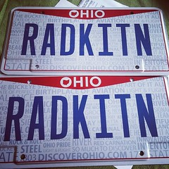 Ordered new plates for the new plate design. Old ones are kinda rusty... Hello beautiful! #ohio #personalizedplates