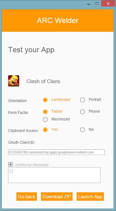 ARC Welder deschide aplicatii de Android