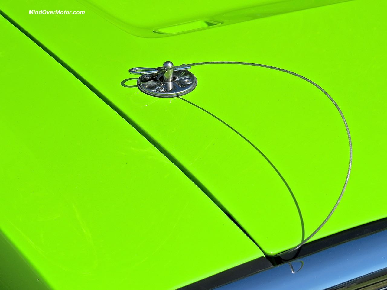 1970 Dodge Charger R:T Hood Pin Detail