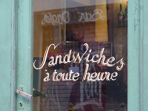 sandwiches à toute heure