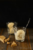 Glace chocolat blanc caramel