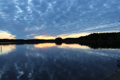 sunset lakecrabtree partlycloudy whowillstoptherain
