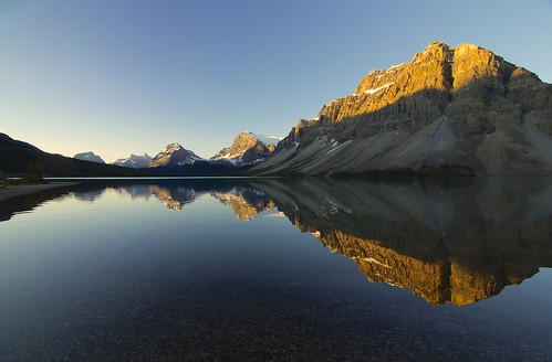Bow Lake and Crowfoot Mountain by Cole Chase Photography