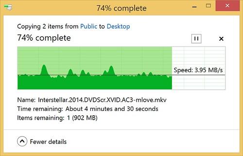 ความเร็วในการรับส่งข้อมูลแบบไร้สายของ WD My Passport Wireless