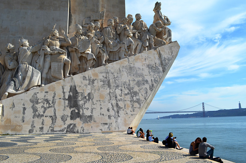 Monument to the Discoveries and bridge, Belém, Lisbon, Portugal