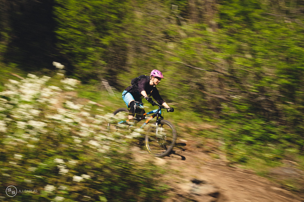 Emily Slaco Pinned on Lower Hawaii trail, Pemberton