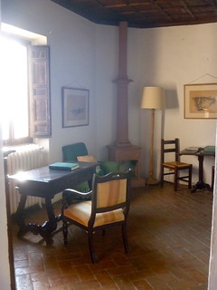 Desk with log book at Sant' Antonio