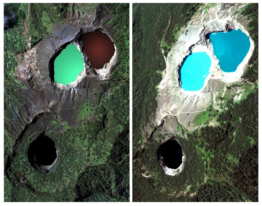 12. Mt Kelimutu, Flores collage