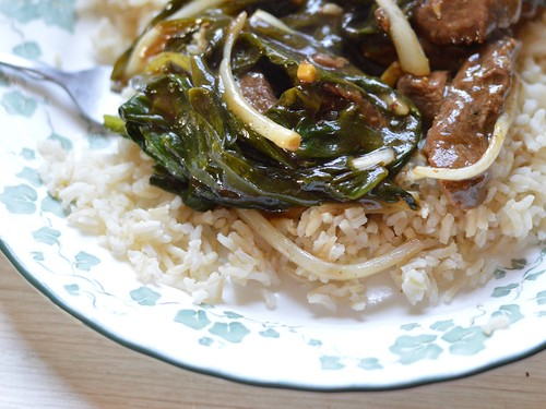 ramps with ginger beef
