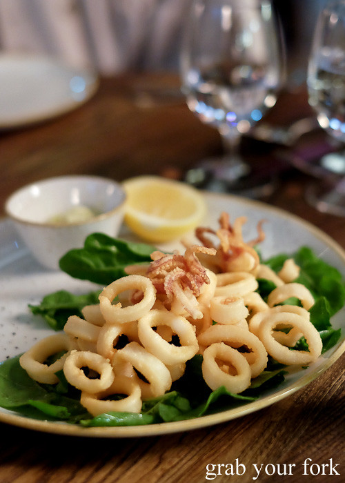 Deep fried calamari at Bar Machiavelli in Rushcutters Bay