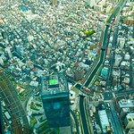 Looking down on Asakusa