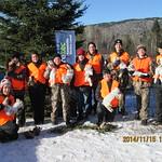 2014 - zec Forestville- initaiton chassegroupe_inities