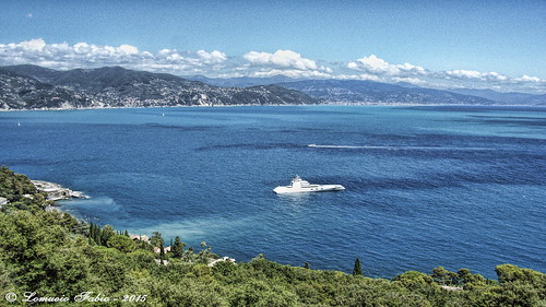 "Yacht ""A"" in Santa Margherita Ligure. 