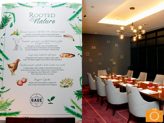 Sage RIM menu and function room