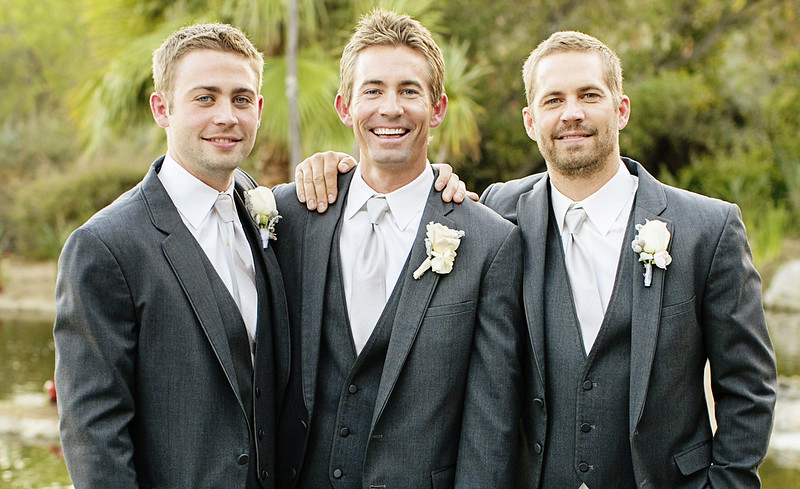 EXCLUSIVE: *PREMIUM RATES APPLY* Paul Walker is best man at his brother Caleb's wedding just six weeks before his death