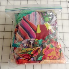 The bag of scraps I received for the challenge