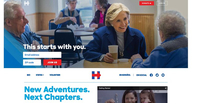 Hillary Clinton website 1