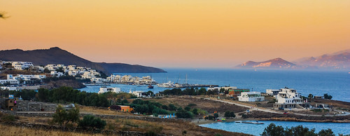 View from Messada-Paros, Cyclades Greece