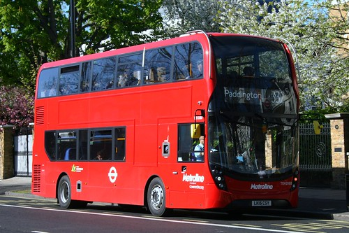 Metroline TEH2080 on Route 332, Carlton Vale/Maida Vale
