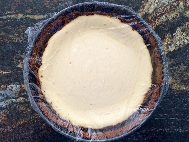 Cheesecake Ready for Refrigerator