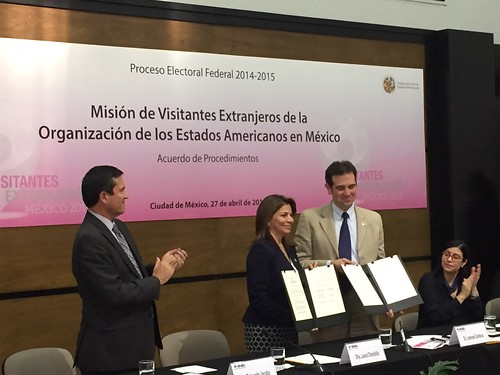 OAS and INE of Mexico Signed Agreement on Procedures for Mission to June 7 Elections