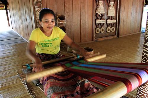 woman weave