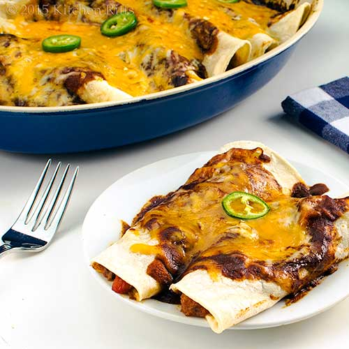 Kitchen Riffs: Tex-Mex Shredded-Beef Enchiladas