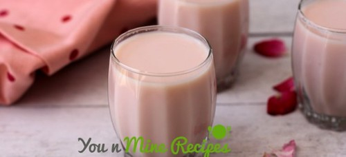 Gulkand Milkshake Recipe - you n Mine Recipes