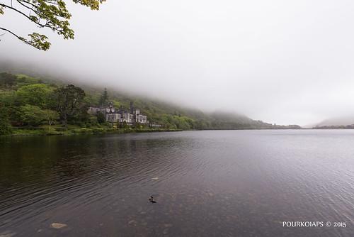castle fog garden landscape connemara paysage irlande lakescape 1424mmf28afs abbayedekylemore nikond610