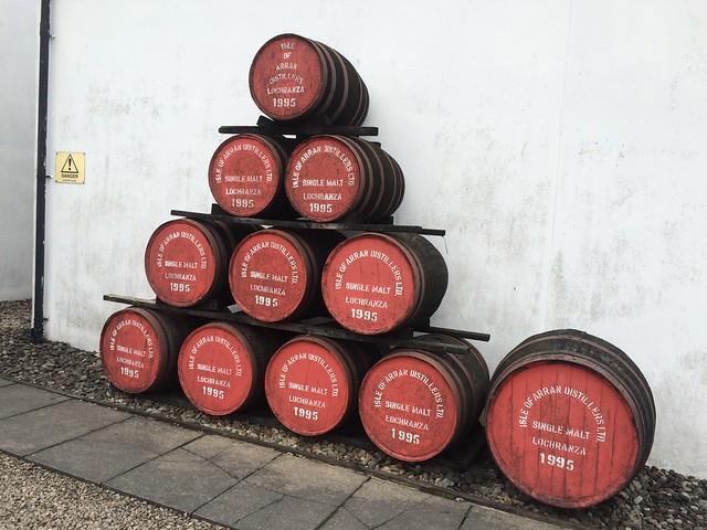 Isle of Arran Distillers - barrels