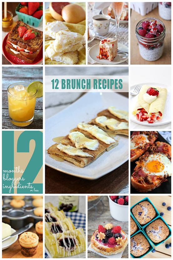 12 Brunch Recipes collage.