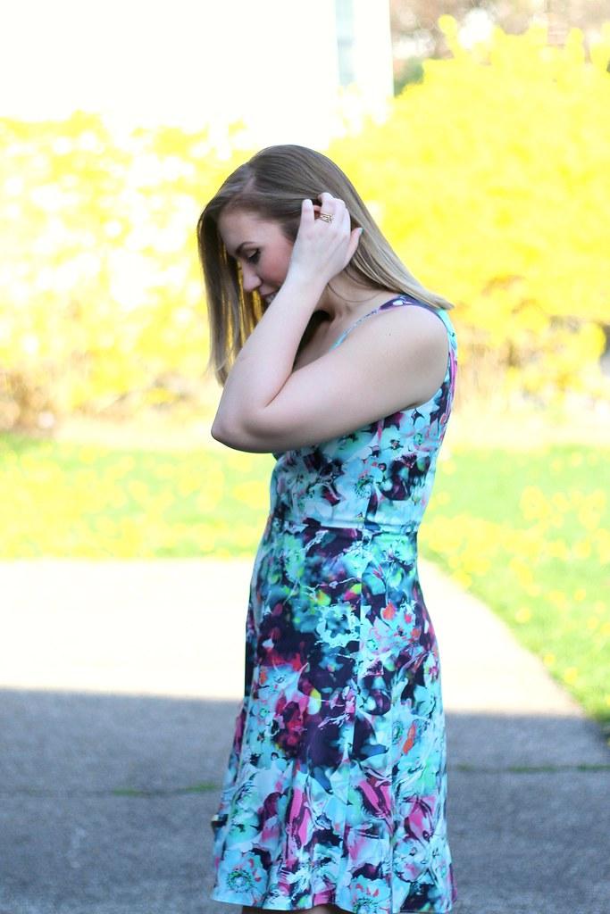 Full Bloom   Floral Spring Dress   #LivingAfterMidnite