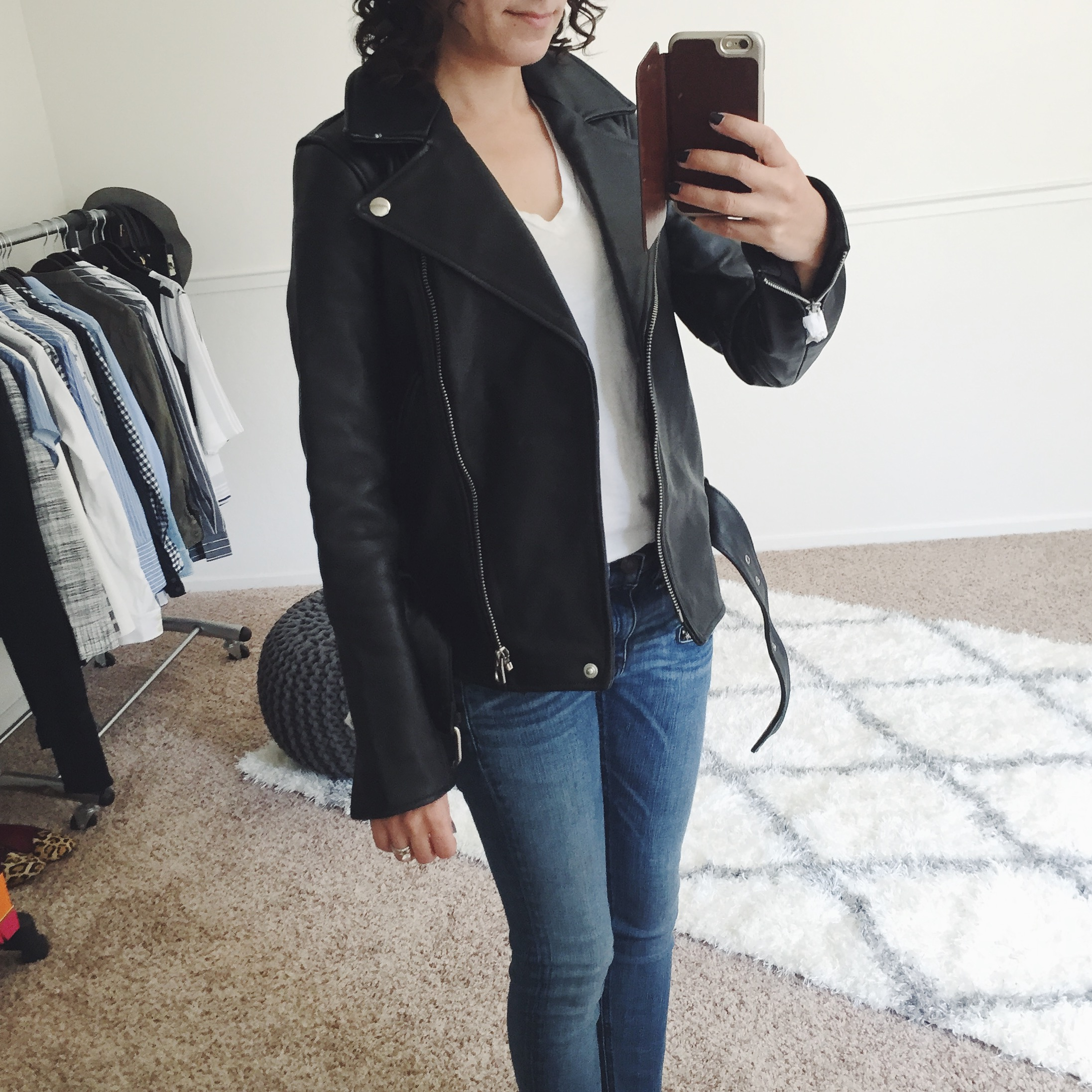 Fit Review Friday – Madewell Leather & Everlane Tee